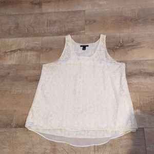 New Forever22 racerback lace tank top